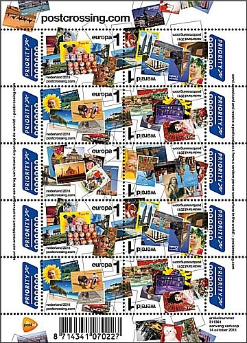 Postcrossing stamps