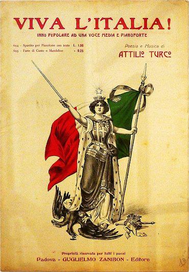 Allegoria-dellItalia-con-il-Tricolore_1916
